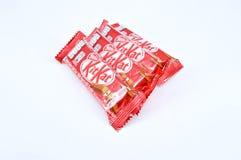 Barra de chocolate del kat del equipo de Nestle Fotos de archivo