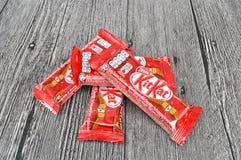 Barra de chocolate del kat del equipo de Nestle Foto de archivo