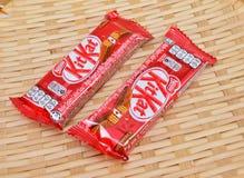 Barra de chocolate del kat del equipo de Nestle Imagen de archivo libre de regalías