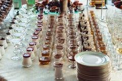 Barra de chocolate do casamento com álcool Imagem de Stock