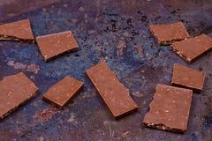 Barra de chocolate do leite Imagens de Stock