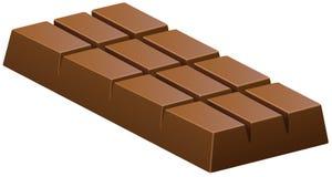 Barra de chocolate do leite no branco ilustração stock