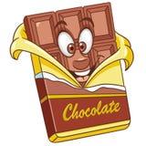 Barra de chocolate dos desenhos animados ilustração royalty free
