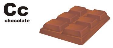 Barra de chocolate e ABC ilustração royalty free