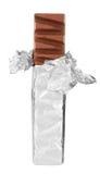 Barra de chocolate en hoja Foto de archivo libre de regalías