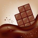 Barra de chocolate en un fondo hermoso Foto de archivo