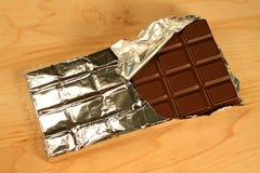 Barra de chocolate escura Fotos de Stock