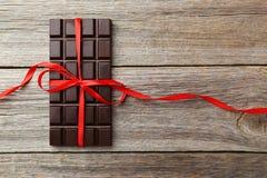 Barra de chocolate escura Imagem de Stock Royalty Free
