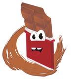 Barra de chocolate feliz ilustração royalty free