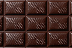 Barra de chocolate oscura Fotos de archivo
