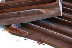 Barra de chocolate oscura Fotografía de archivo libre de regalías