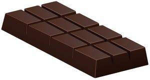 Barra de chocolate oscura en blanco Imagen de archivo