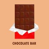Barra de chocolate polivinílica baja Fotografía de archivo