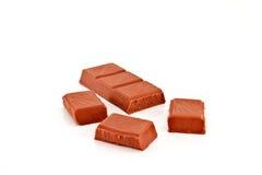 Barra de chocolate quebrada Imagenes de archivo