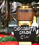 Barra de chocolate quente na venda em Itália Imagem de Stock Royalty Free