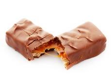 Barra de chocolate sabrosa Fotografía de archivo