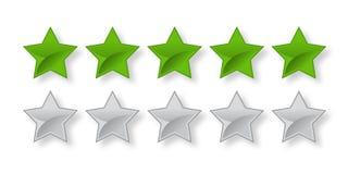 Barra de clasificaci?n de cinco estrellas verde llena y vac?a libre illustration