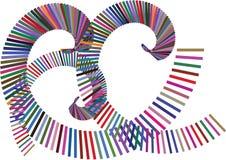 Barra de color del remolino stock de ilustración