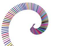 Barra de color del remolino ilustración del vector