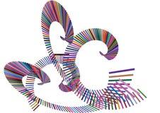 Barra de color del remolino (vector) ilustración del vector