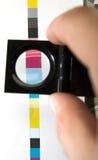 Barra de cor da impressão de CMYK imagem de stock royalty free