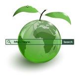 Barra de cristal de WWW del mapa de la tierra de la fruta de la manzana Imágenes de archivo libres de regalías