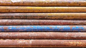 Barra de ferro oxidada da cor Fotografia de Stock