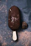 Barra de gelado de chocolate Fotografia de Stock