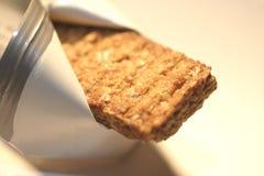 Barra de granola de oro Imágenes de archivo libres de regalías