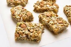 Barra de granola do cereal Fotografia de Stock Royalty Free