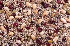 Barra de granola sin cortar Imágenes de archivo libres de regalías