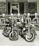Barra de Harley Davidsons & do café Imagens de Stock Royalty Free