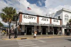 Barra de Joe descuidado en Key West la Florida Fotos de archivo libres de regalías