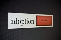 Barra de la búsqueda de Internet con la adopción de la frase Imagen de archivo libre de regalías