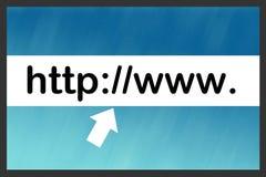 Barra de la búsqueda del Internet Fotos de archivo