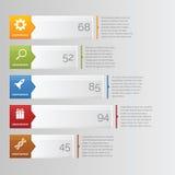 Barra de la carta de Infographic horizontal ilustración del vector