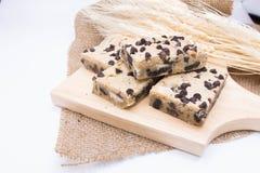 Barra de la galleta del chocolate fotos de archivo libres de regalías
