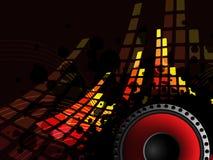 Barra de la música con el sonido-altavoz Imágenes de archivo libres de regalías