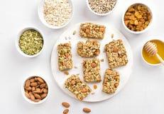 Barra de la nutrición, granola imagenes de archivo