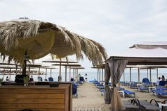 Barra de la playa de Skala Marion Beba Foto de archivo libre de regalías