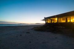 Barra de la playa en una noche clara Fotografía de archivo libre de regalías