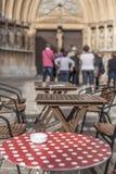 Barra de la terraza en el punto turístico de la ciudad de Tarragona foto de archivo