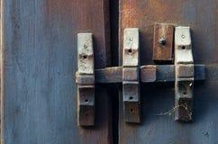 Barra de madera bloqueada Abadía de Shwe Inbin Foto de archivo libre de regalías