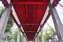 Barra de madera roja Imagen de archivo libre de regalías