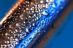 Barra de metal azul fotografía de archivo