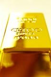 Barra de oro imagen de archivo libre de regalías