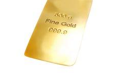 Barra de oro imagenes de archivo