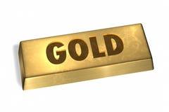 Barra de oro fotografía de archivo libre de regalías