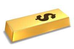 Barra de oro imagen de archivo