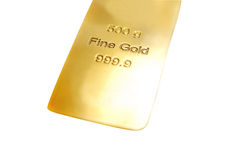 Barra de ouro Imagens de Stock